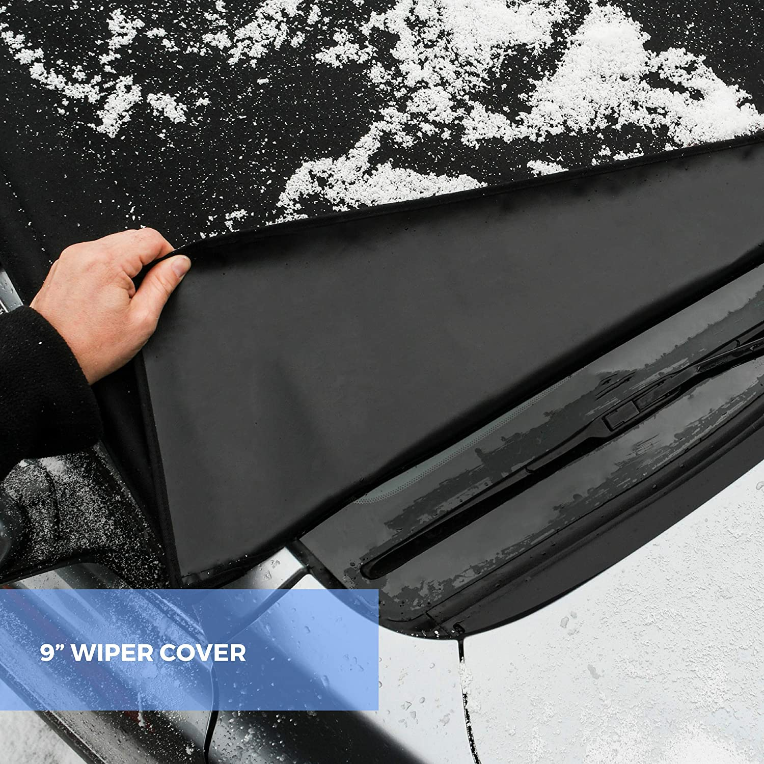 FrostGuard Signature Protects from Snow Premium Winter Windshield Cover with Security Panel and Wiper Cover Ice and Frost 4350433120