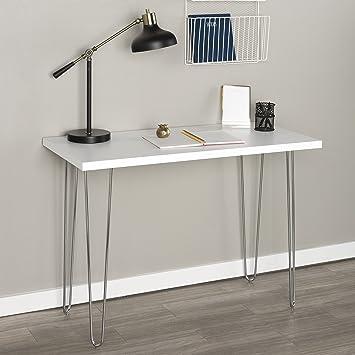 Brilliant Walker Edison Furniture Hairpin Leg Writing Desk Wood Interior Design Ideas Skatsoteloinfo