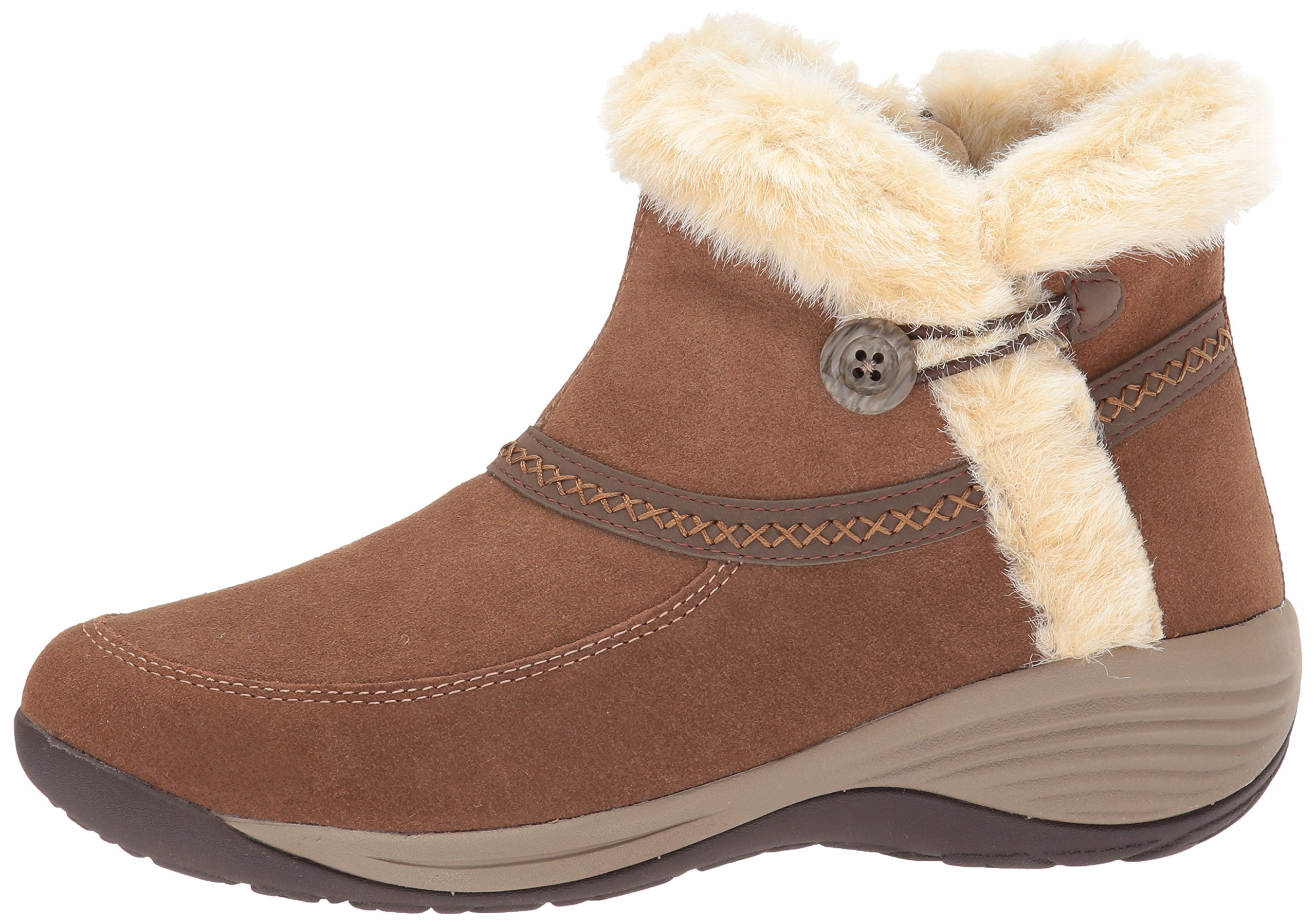 Easy Spirit Women's Icerink Ankle Bootie, Dark Natural Multi Suede, 6 W US by Easy Spirit (Image #5)