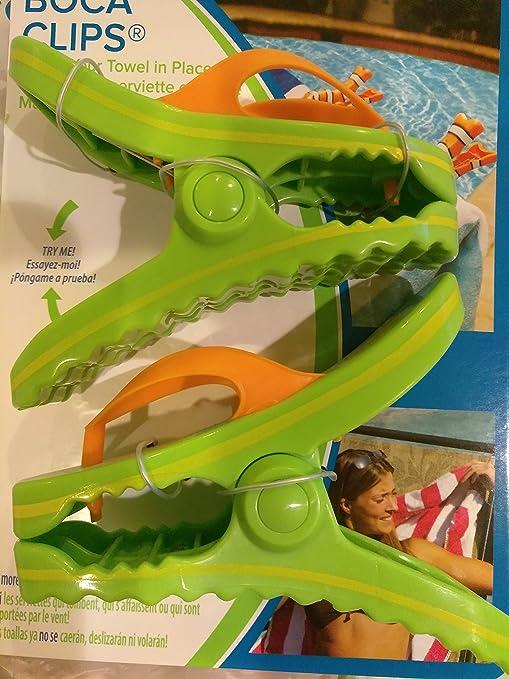 Toalla Clips diseño de lunares con tapa Flip Flops boca Clips toalla de playa piscina tumbona