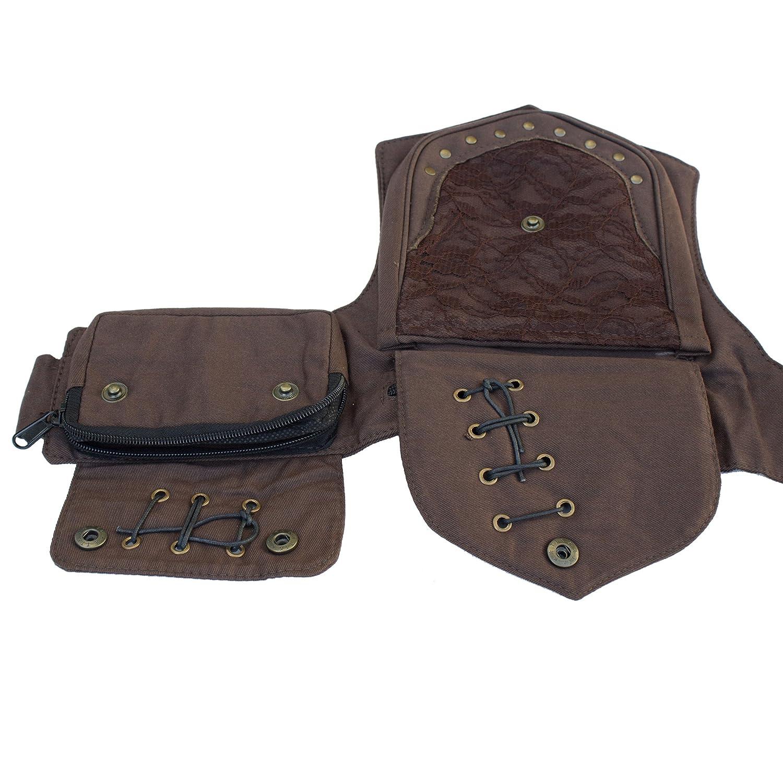 Practical Fannypack Cotton Waistbag Travel Utility Travel Belt-Black-One Size 70127-1