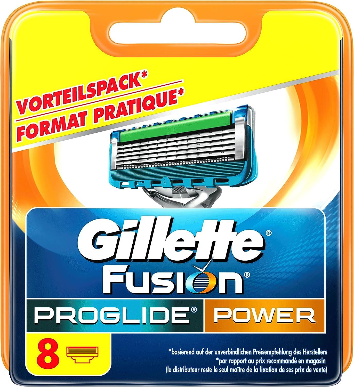 Gillette Fusion Proglide Power - Hoja de afeitar para hombre, 8 ...