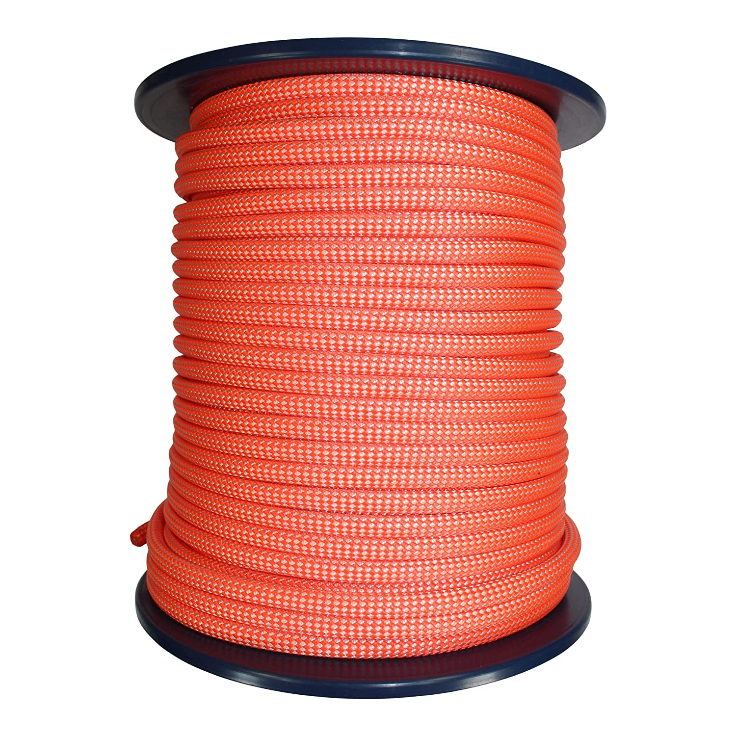 High Visibility Caving Rope Cord for Speleo Canyoning 9mm Canyoneering Rope w//Teflon Eco Coating Tendon Canyon Dry Rope 100 Meters, Orange /& White Rappelling UIAA//CE Certified