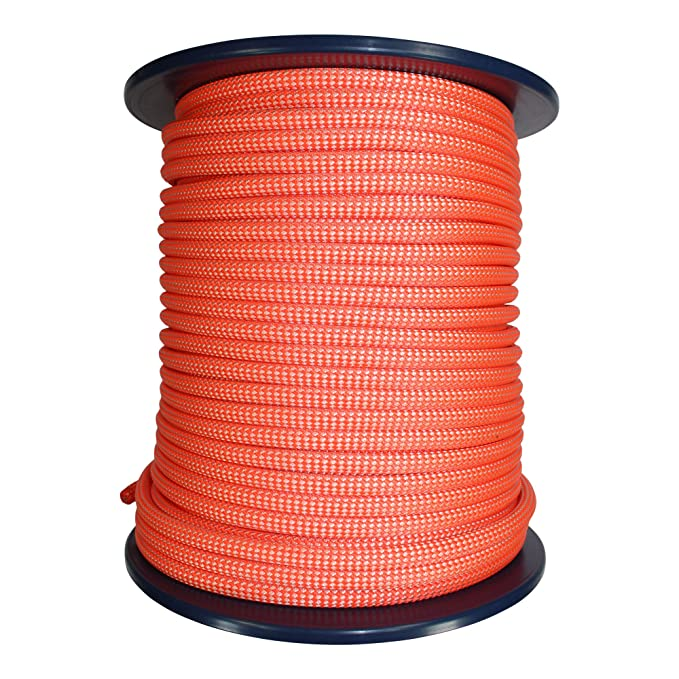 9mm Canyoneering Rope w//Teflon Eco Coating 100 Meters, Orange /& White UIAA//CE Certified Canyoning Rappelling High Visibility Caving Rope Cord Tendon Canyon Dry Rope for Speleo