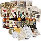 Spécialités de bière de Franconie (les meilleures bières de francs suisses) comme un Pack d'essai pour le cadeau dans une boîte cadeau 9x0,5l + d'informations sur les bières + instructions de dégustations + suppléments boîte-cadeau