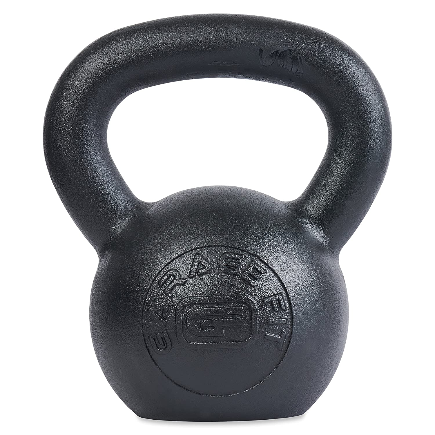 Amazon garage fit powder coated kettlebells with lb and kg