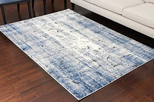Miami Textured 3-D Carved Double Point High Density Thick Collection Oriental Carpet Area Rug Rugs Silver Grey Blue 5062 Anthracite 9×12 9'1×12'5