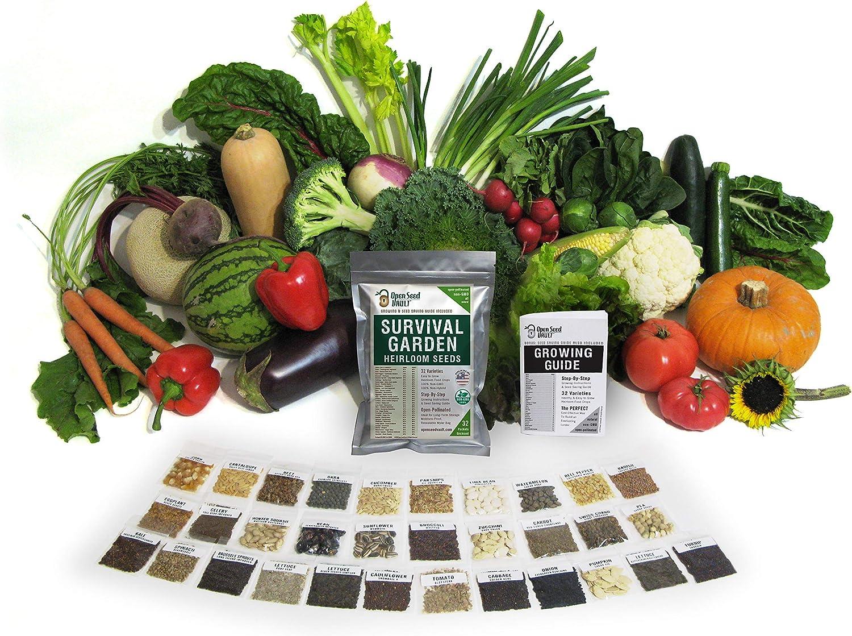 Survival Garden 15,000-Non-GMO-Heirloom-Vegetable-Seeds-Survival-Garden