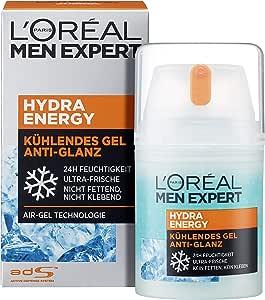L'Oréal Men Expert Hydra Energy anti-glans, niet-vettige hydraterende verzorging met mat effect en verkoelende werking is de perfecte gezichtscrème voor vermoeide mannenhuid.