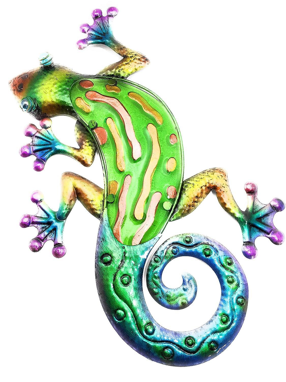 "OSW Gecko Wall Decor 17"" Rainbow Green"