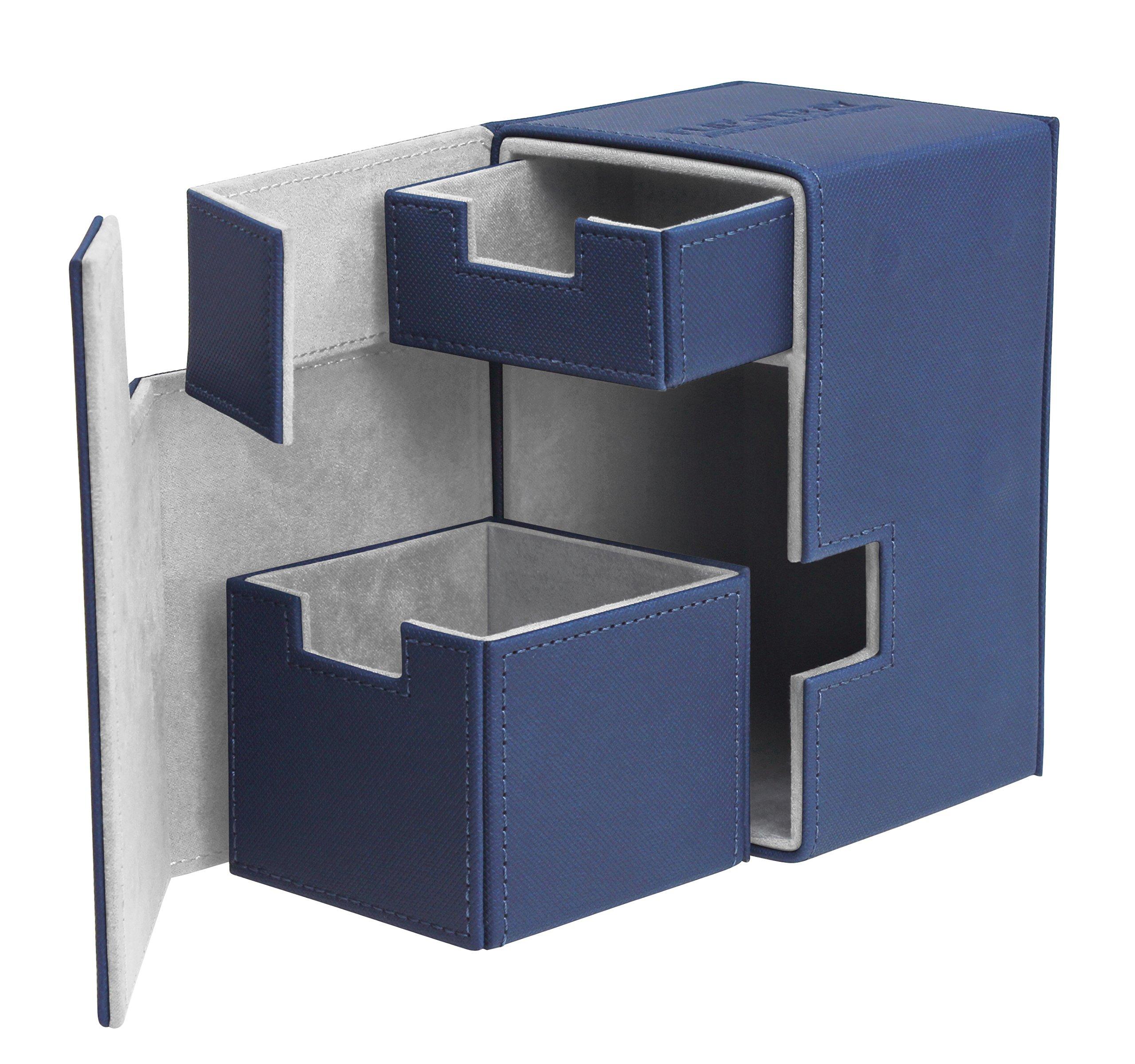 Flip N Tray Xenoskin Deck Case 100/120 Card, Blue by Ultimate Guard
