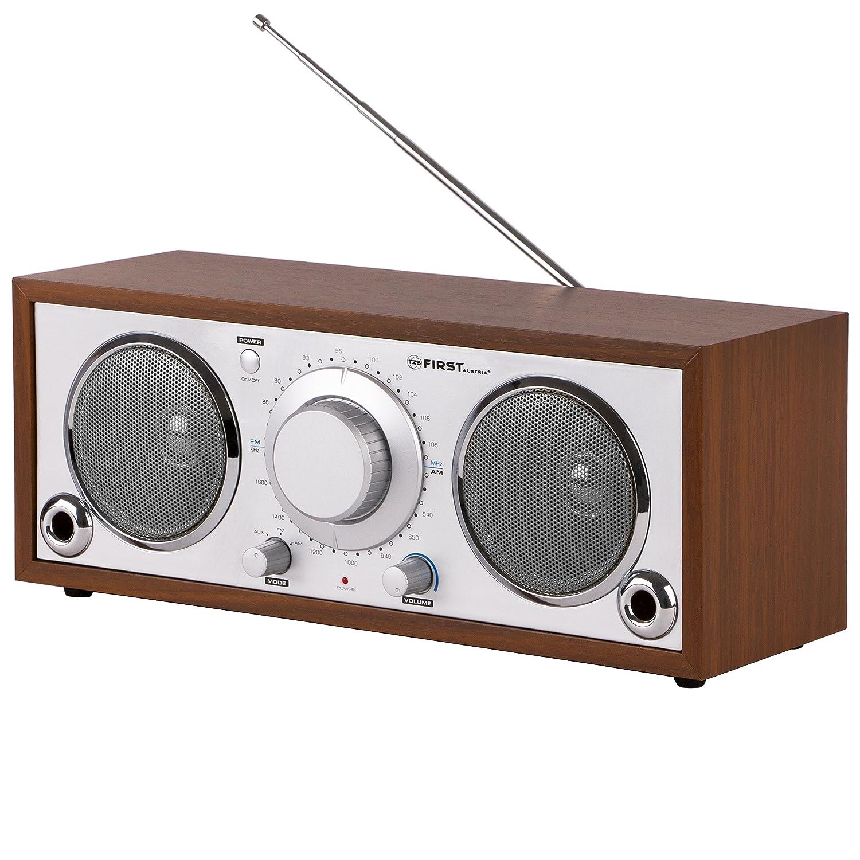 TZS First Austria Retro Radio mit AUX IN für Handy AM FM