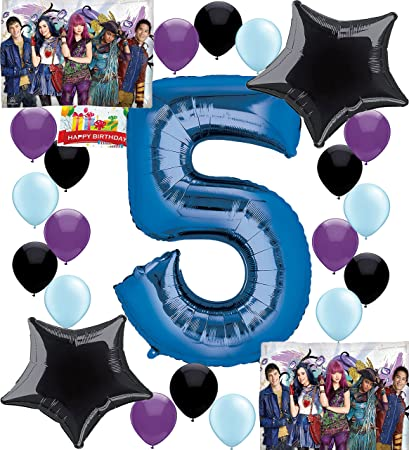 Amazon Descendants 2 Party Supplies Birthday Decorations Number Balloon Bundle For 5th Toys Games