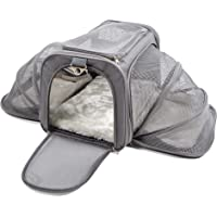 "Jet Sitter Wings v4 Airline Approved Travel Dog Cat Pet Carrier Crate for Airplane Under Seat (Medium, Silver) (Medium (18""x11""x11""), Dark Gray)"