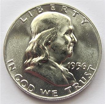 1956 Franklin 90 Silver Half Dollar Brilliant Uncirculated
