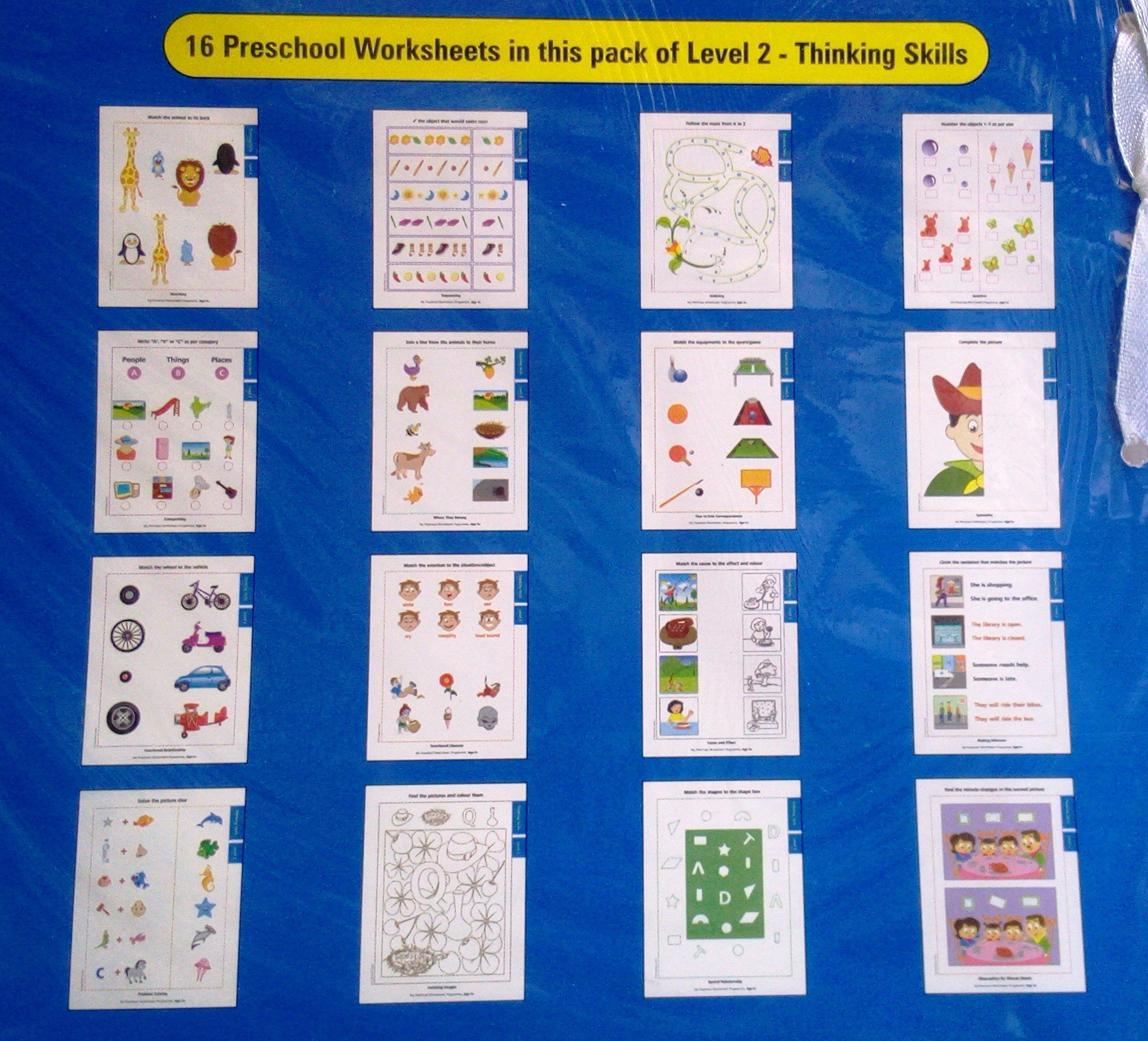 Buy My Preschool Worksheets Programme Thinking Skills Level 2 Book ...
