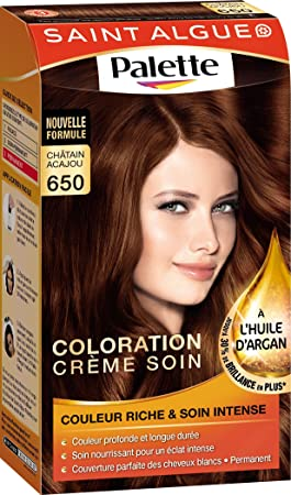 saint algue palette coloration permanente chtain acajou 650 - Coloration Chatain Acajou