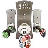 BAR None The Capstractor   Magnet Magnetic Fridge Bottle Opener Wall Mounted Bottle Opener Beer Opener Beer Bottle Opener Bottle Cap Opener Refrigerator Fridge Beer Bottles for Bartender Church Key