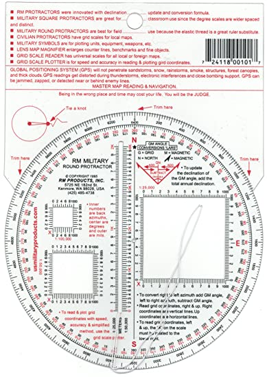 Amazon.com: RM PRODUCTS Military Round Protractor: Sports & Outdoors