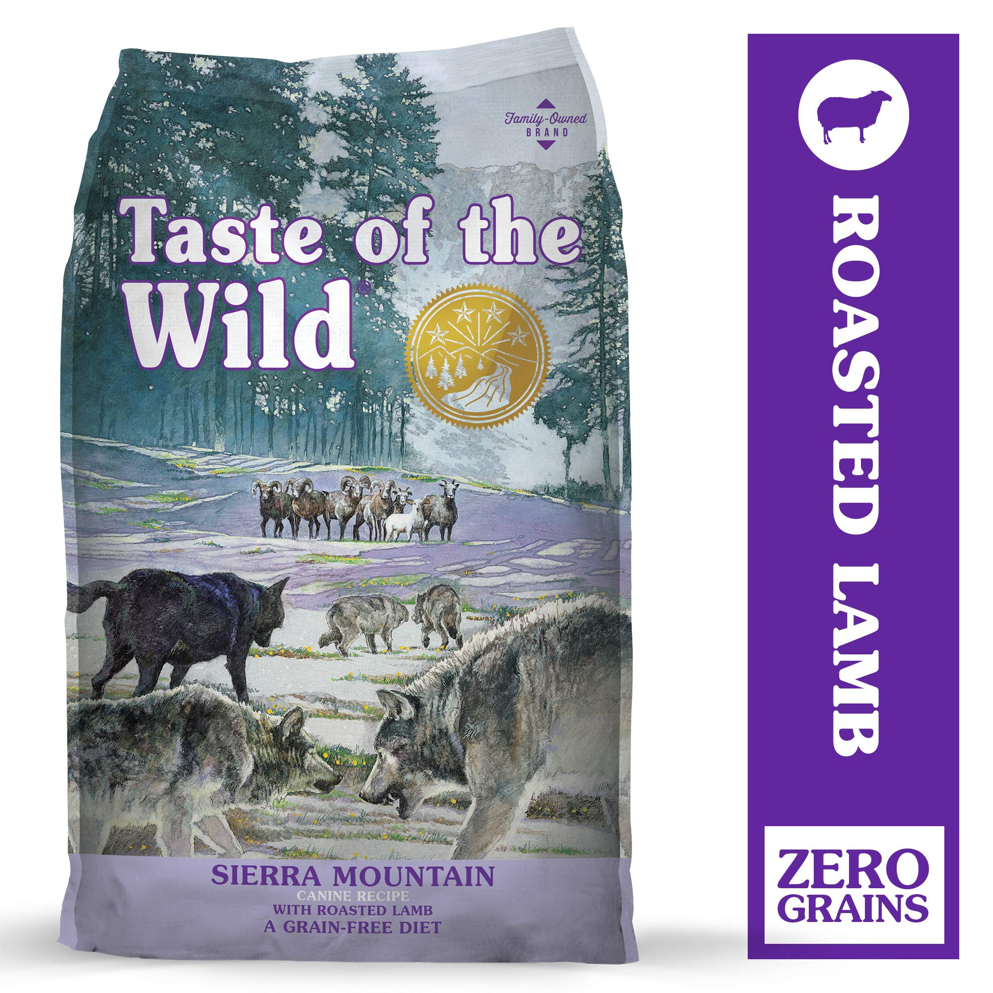 Taste of the Wild Sierra Mountain Grain-Free Dry Dog Food with Roasted Lamb 28lb by Taste of the Wild