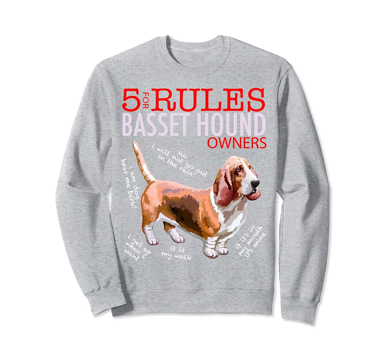 5 Rules for Basset Hound Owners Sweatshirt-TH