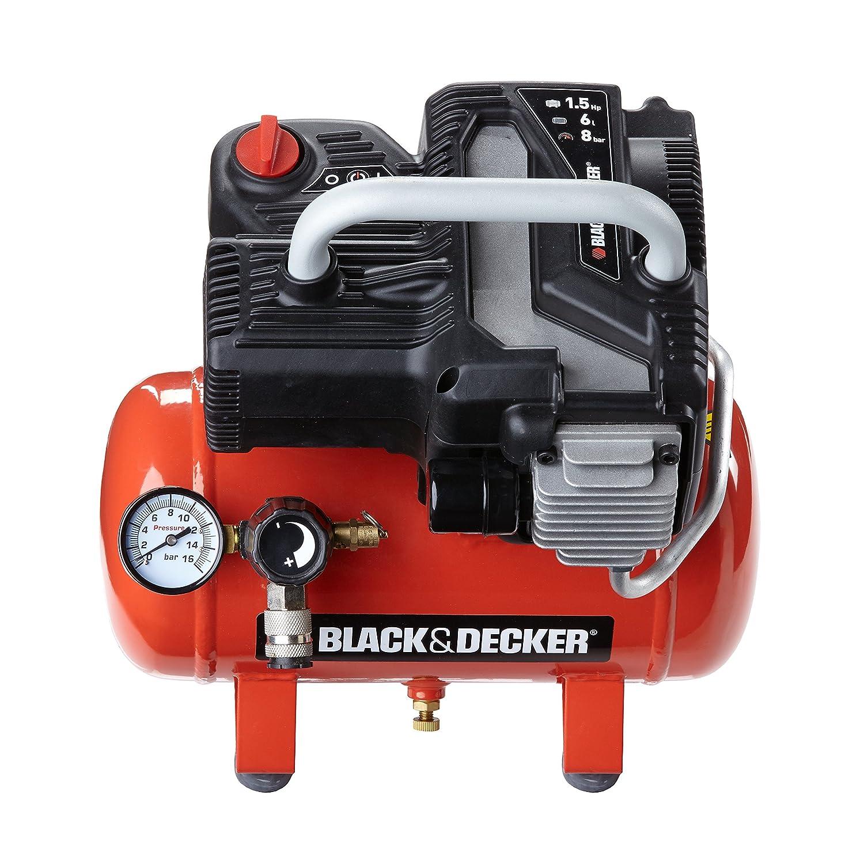 Black+Decker 1800 - Compresor con tanque de 6 L, sin aceite: Amazon.es: Bricolaje y herramientas