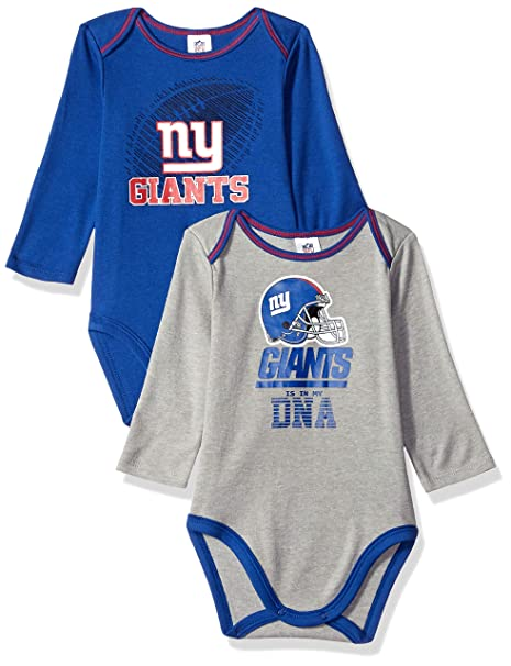 Amazon.com   NFL New York Giants Unisex-Baby 2-Pack Long-Sleeve ... 30c3b2a8c