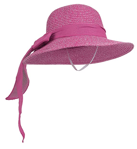 Sun hat folding beach hat (Purple red) at Amazon Women s Clothing store  caaf1206363
