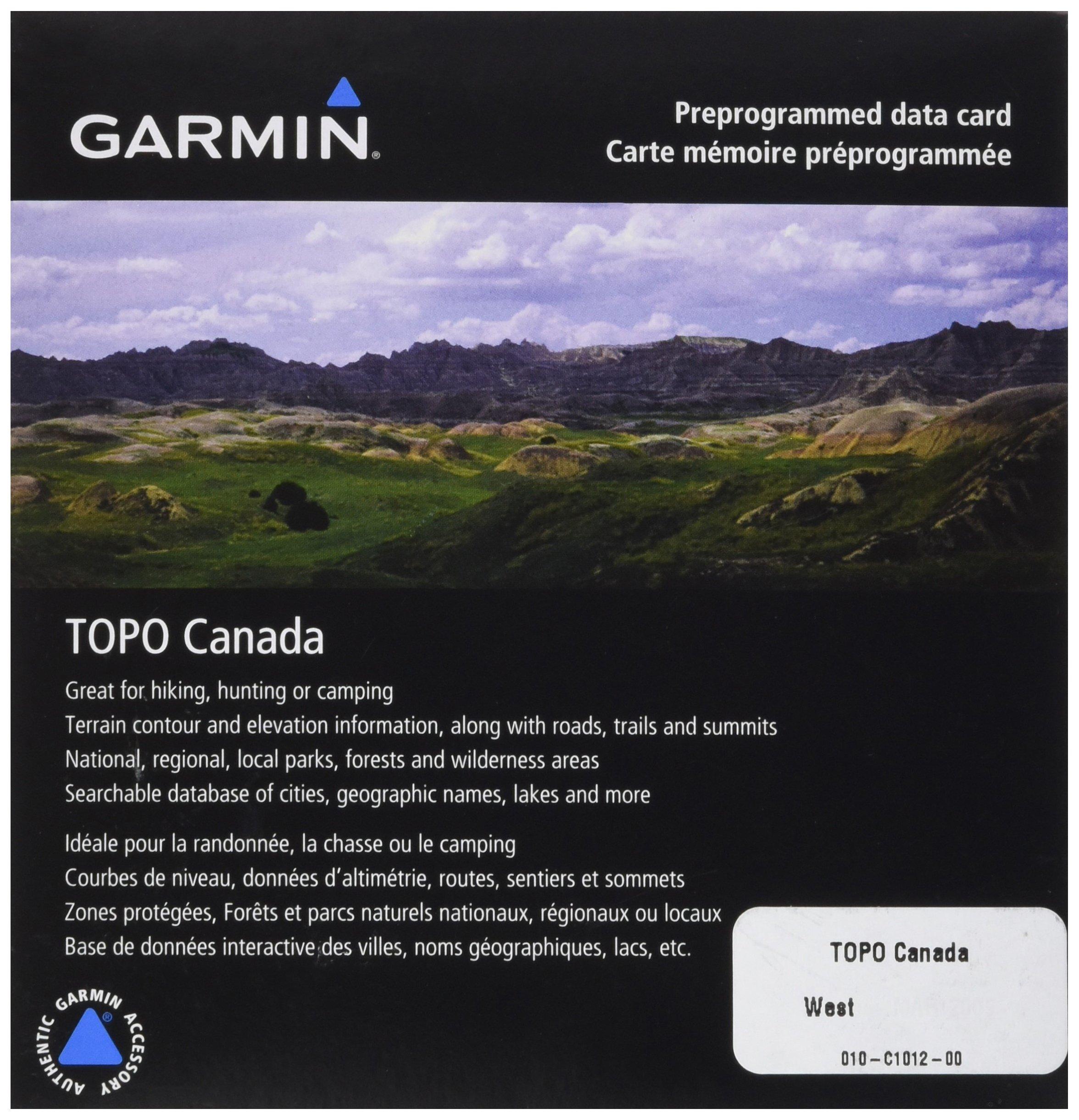 Garmin TOPO! West Canada Map microSD Card