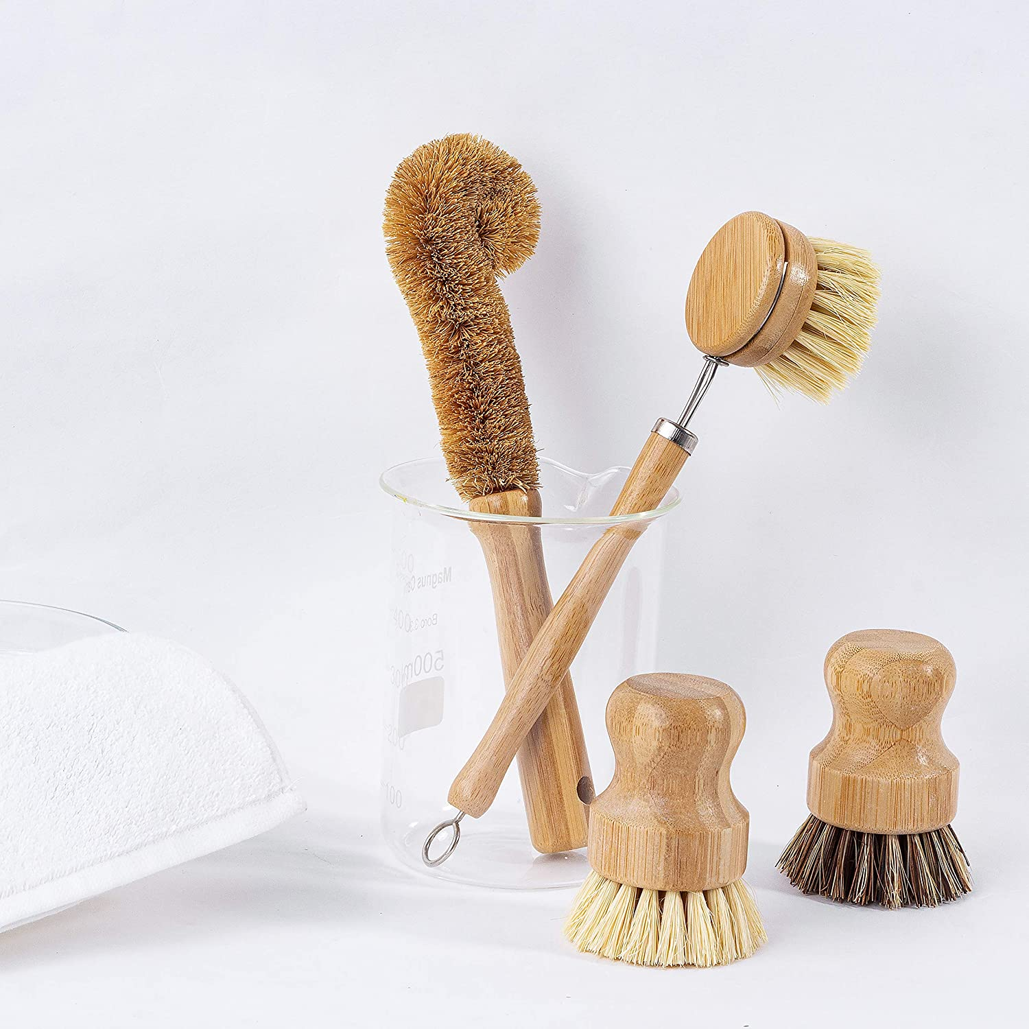 Earth's Own Natural Bamboo Dish Scrub Brush 4 Piece Set