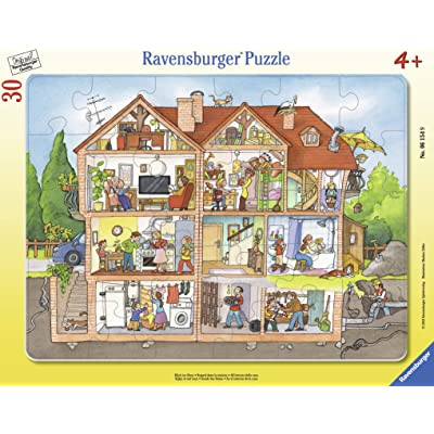 Ravensburger 06154, Inside The House 30 Piece Frame Tray Puzzle for Kids, Every Piece is Unique, Pieces Fit Together Perfectly: Toys & Games