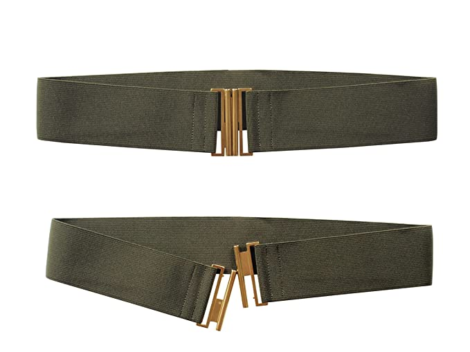 f44123ed13d347 agrafa 5cm Damen Taillen Stretch Gürtel Matall Gold Farbe Schnalle Größe  XS-XL (XS