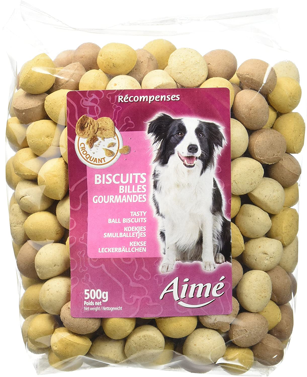 Aime Biscuits Billes Gourmandes pour Chien 0, 5 Kg Agrobiothers 901571
