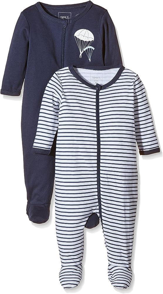 Herstellergr/ö/ße: 92 Cashmere Blue Cashmere Blue , Mehrfarbig NAME IT Baby-Jungen 13173261 Schlafstrampler 2er Pack