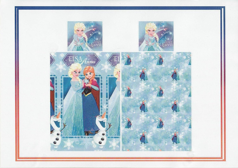 Twin Frozen Winter Queen Reversible Duvet Set Blue