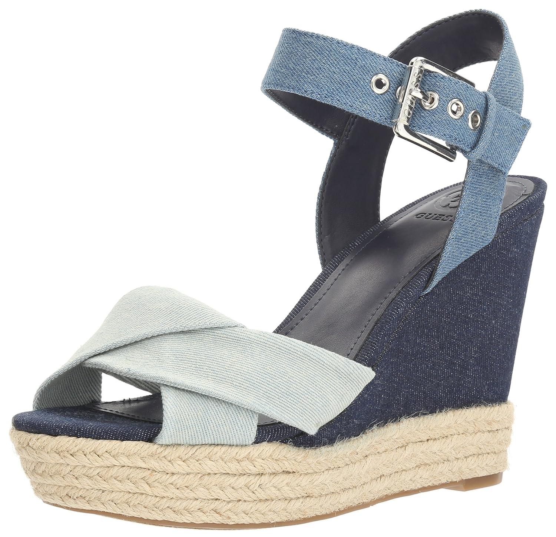 75a1f1f39e858 Guess Women s Sanda Wedge Sandal  Amazon.co.uk  Shoes   Bags