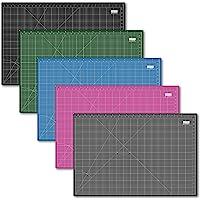 UESTA A1 (36L x 24W Inch) (900 x 600 mm) Self Healing 5 Layers PVC Colorful Cutting Mat (Black)