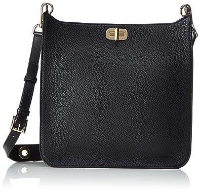 7bd7e8f6e720 ... MICHAEL Michael Kors Womens Sullivan Leather Messenger Bag Black One  Size ...