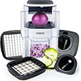 Vidalia Chopper Vegetable Onion & Fruit Cutter (4 IN 1) Dicer with 2 Spiral Slicer Spiralizer Blades for Veggie Noodle Zucchini Spaghetti Food Maker - French Fry Potato Fries Vegetables & Onions