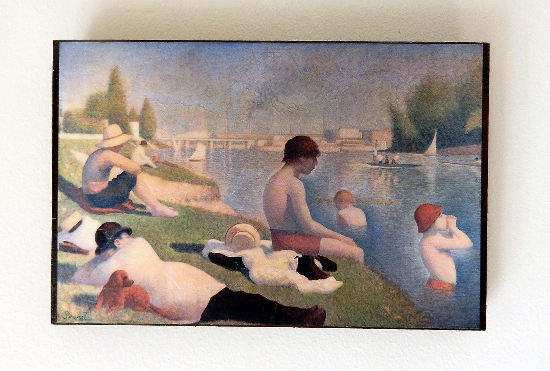 Amazon Com Bathers At Asnières Georges Pierre Seurat National Gallery London Handmade