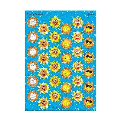 Trend Enterprises Sunny Smiles Sparkle Stickers (72 Piece), Multi: Toys & Games
