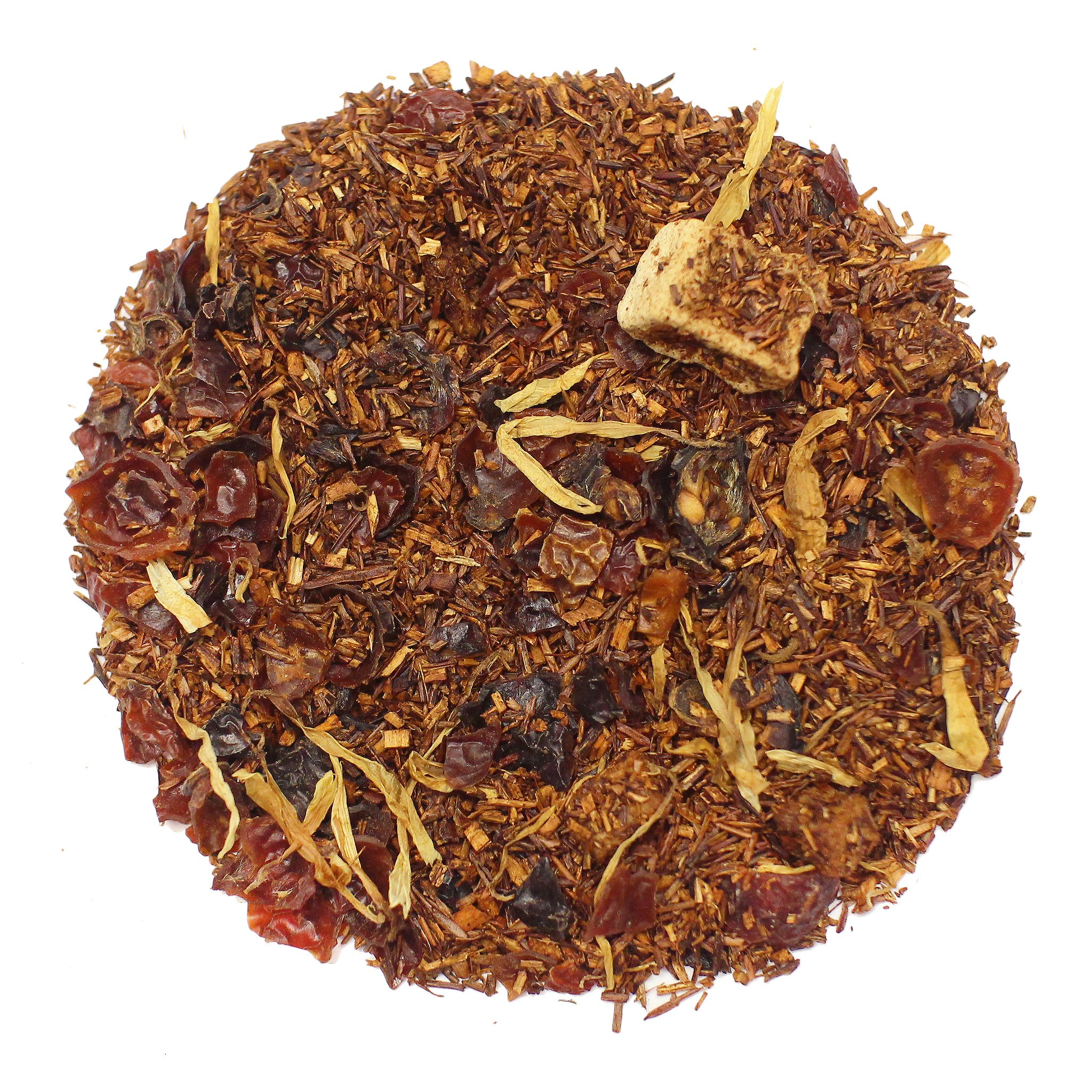 The Tea Farm - Mango Rose Hip Rooibos Herbal Tea - Loose Herbal Tea (8 Ounce Bag) by The Tea Farm