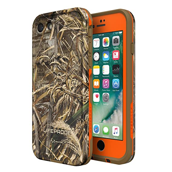 more photos 9756e ed829 Lifeproof FRĒ SERIES Waterproof Case for iPhone 8 & 7 (ONLY) - Retail  Packaging - (BLAZE ORANGE/BLACK/REALTREE MAX 5)