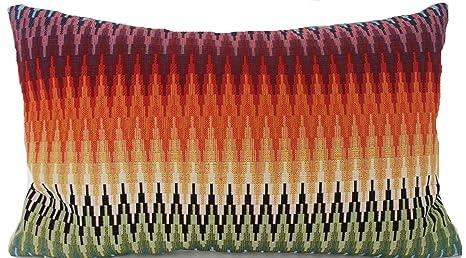 Textile London Oriental Zig Zag - Funda de cojín (algodón ...