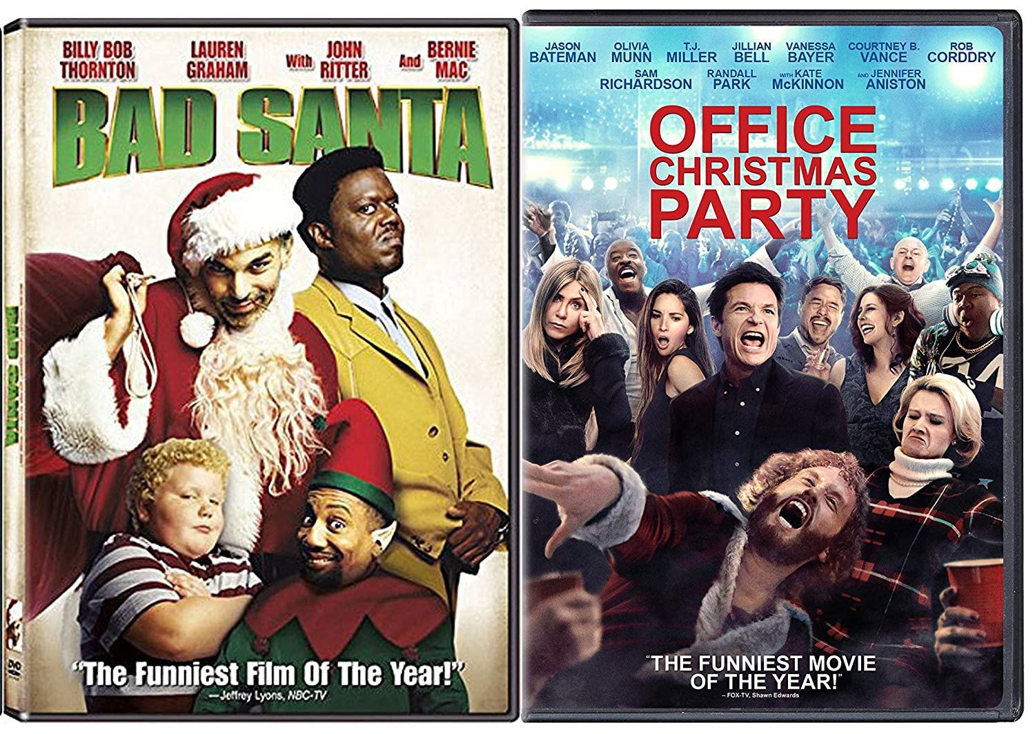 Amazon.com: Working Christmas - Bad Santa Holiday DVD Bundle Office ...