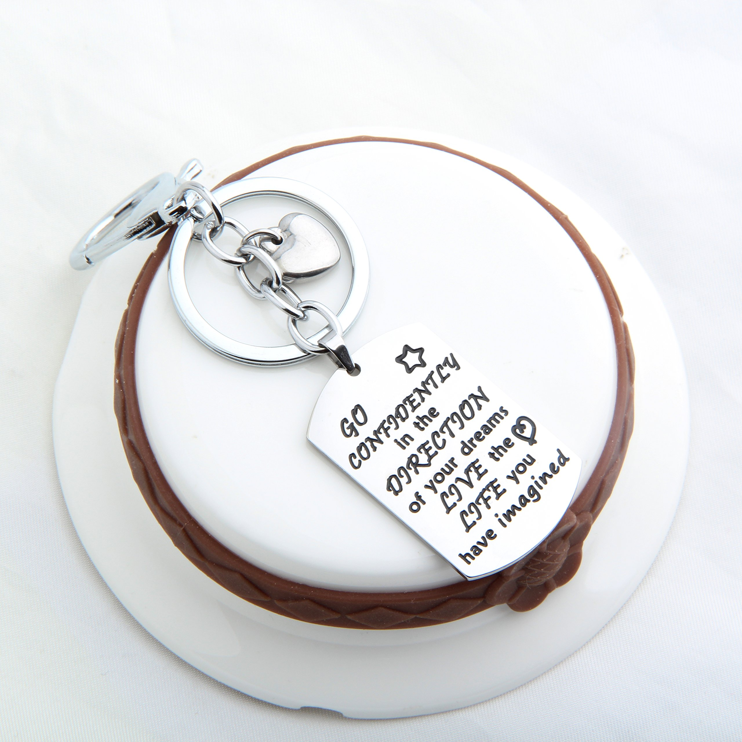 Gzrlyf Graduation Keychain Go Confidently In The Direction Of Your Dreams Keychain Inspirational Gift (keychain) by Gzrlyf (Image #5)