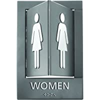 Advantus Pop-Out ADA Signs, 6 x 9 Inches, Gray/White, Women (91097)