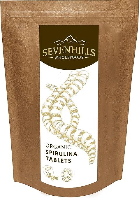 54 opinioni per Sevenhills Wholefoods Spirulina Compresse Bio 500mg x 2000, 1kg