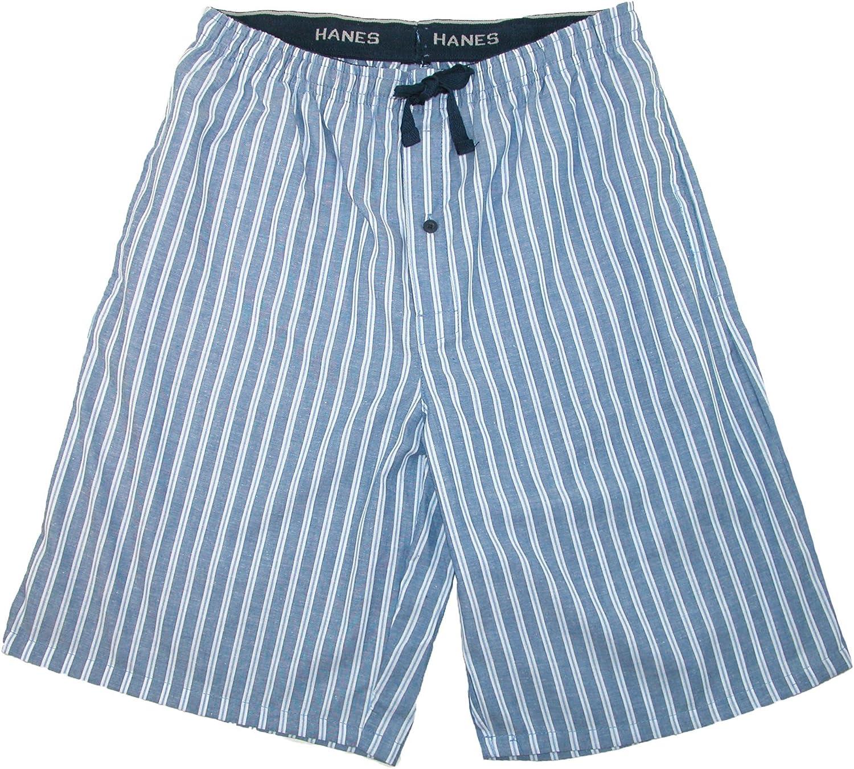 Hanes Mens Big and Tall Madras Sleep Pajama Shorts