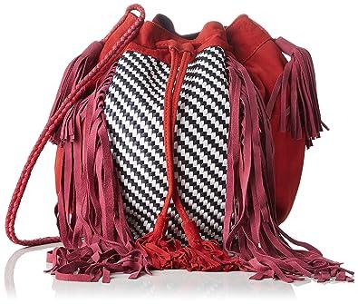 39d1696cad Antik Batik femme Massaa Sac porté épaule Rouge (Red): Amazon.fr ...
